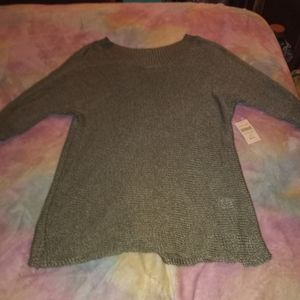 NWT Medium COLDWATER CREEK Olive Green Knitted Top